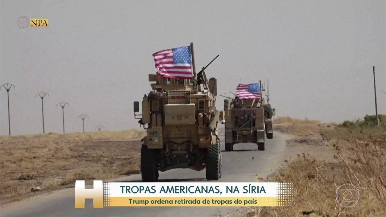 Tropas americanas se retiraram de bases, no norte da Síria