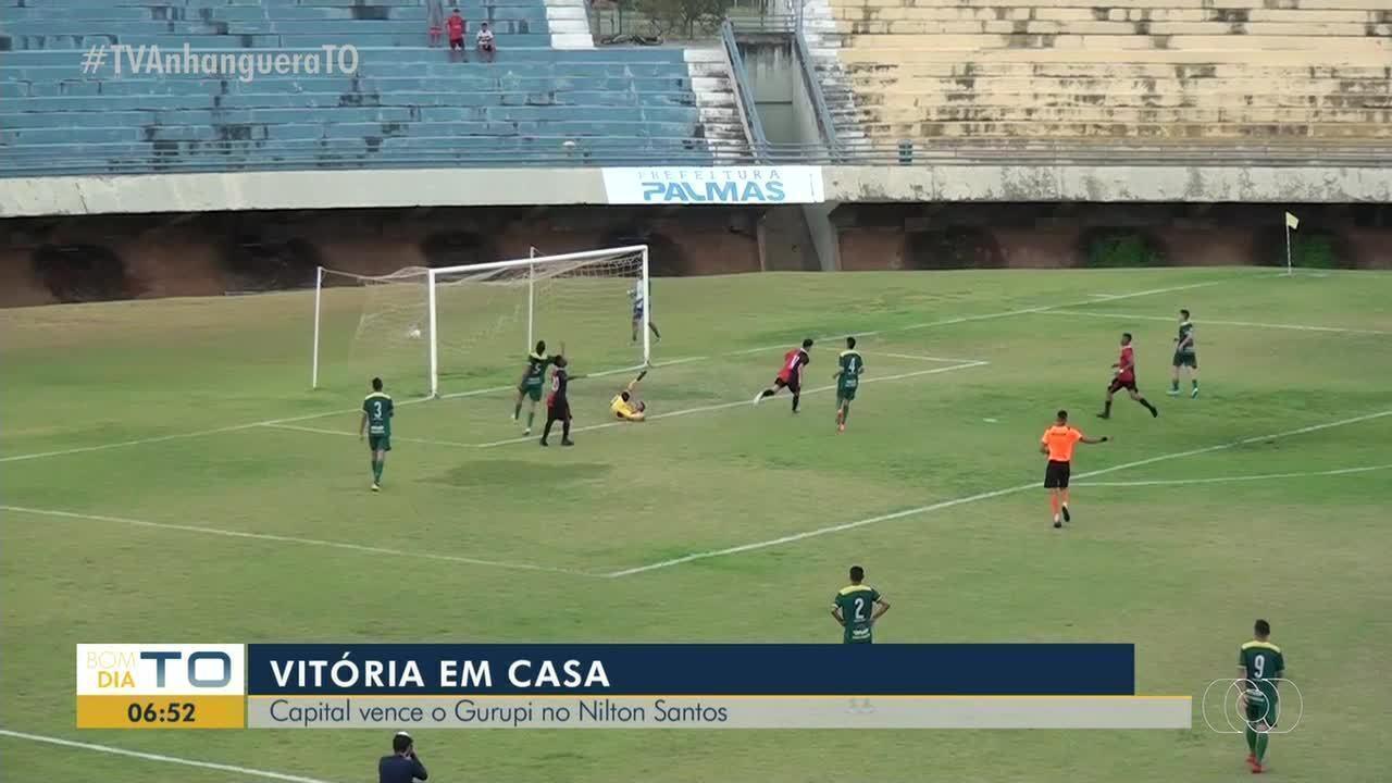 Primeiro gol do Capital contra o Gurupi sai em belo chapéu