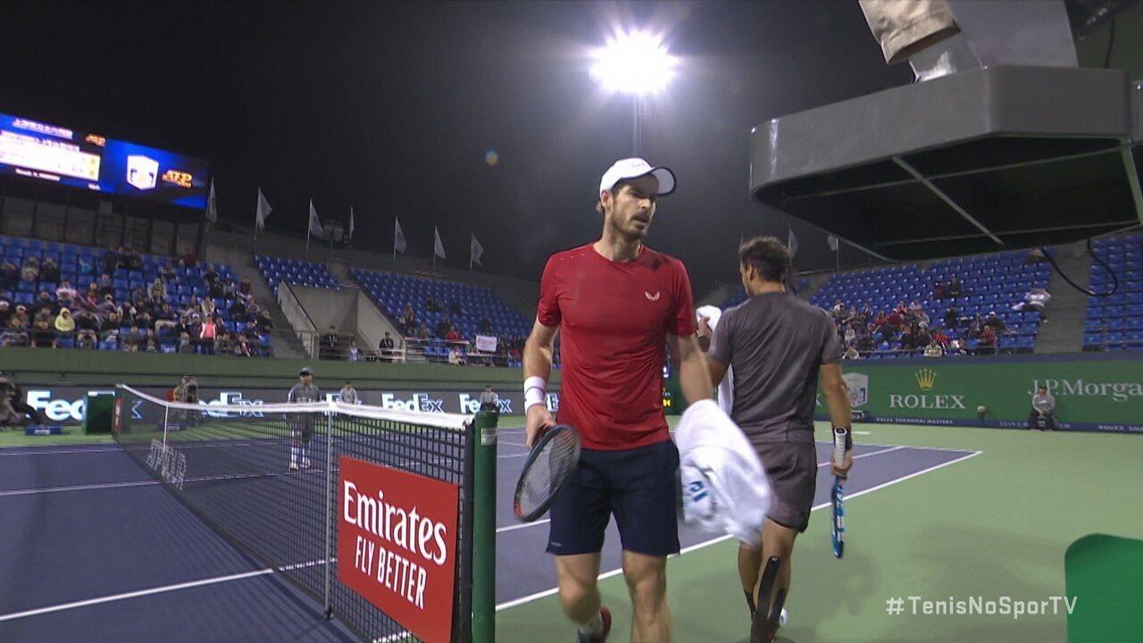 Andy Murray reclama de atitude e manda Fabio Fognini calar a boca no Masters 1000 de Xangai