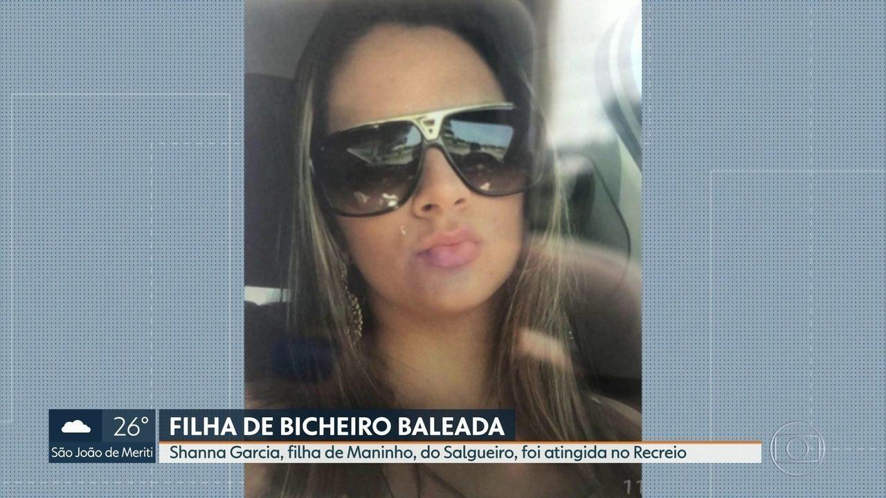 Shanna Garcia, filha de Maninho, do Salgueiro, foi atingida no Recreio