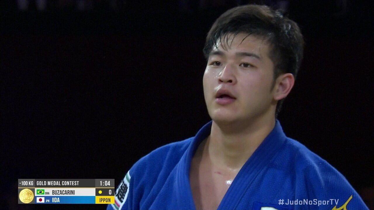 Rafael Buzacarini perde para japonês Kentaro Iida e leva a prata na final dos 100kg