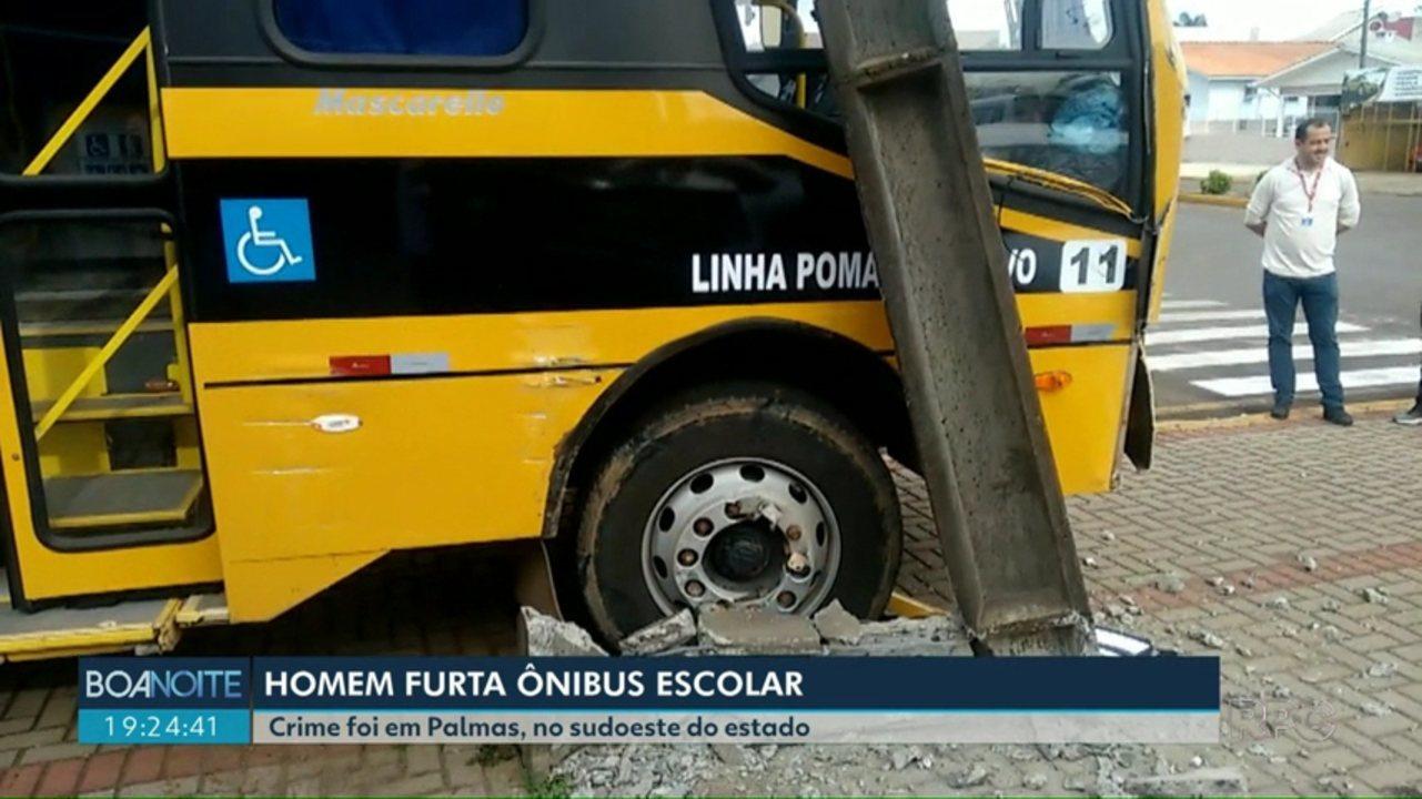 Homem furta ônibus escolar em Palmas