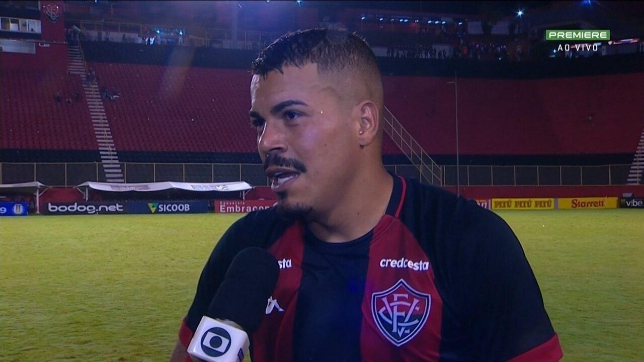 Carleto analisa estreia e fala pela primeira vez como jogador do Vitória