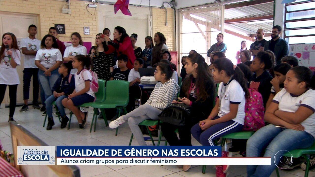 'Diário de Escola': Projeto escolar promove igualdade entre meninos e meninas