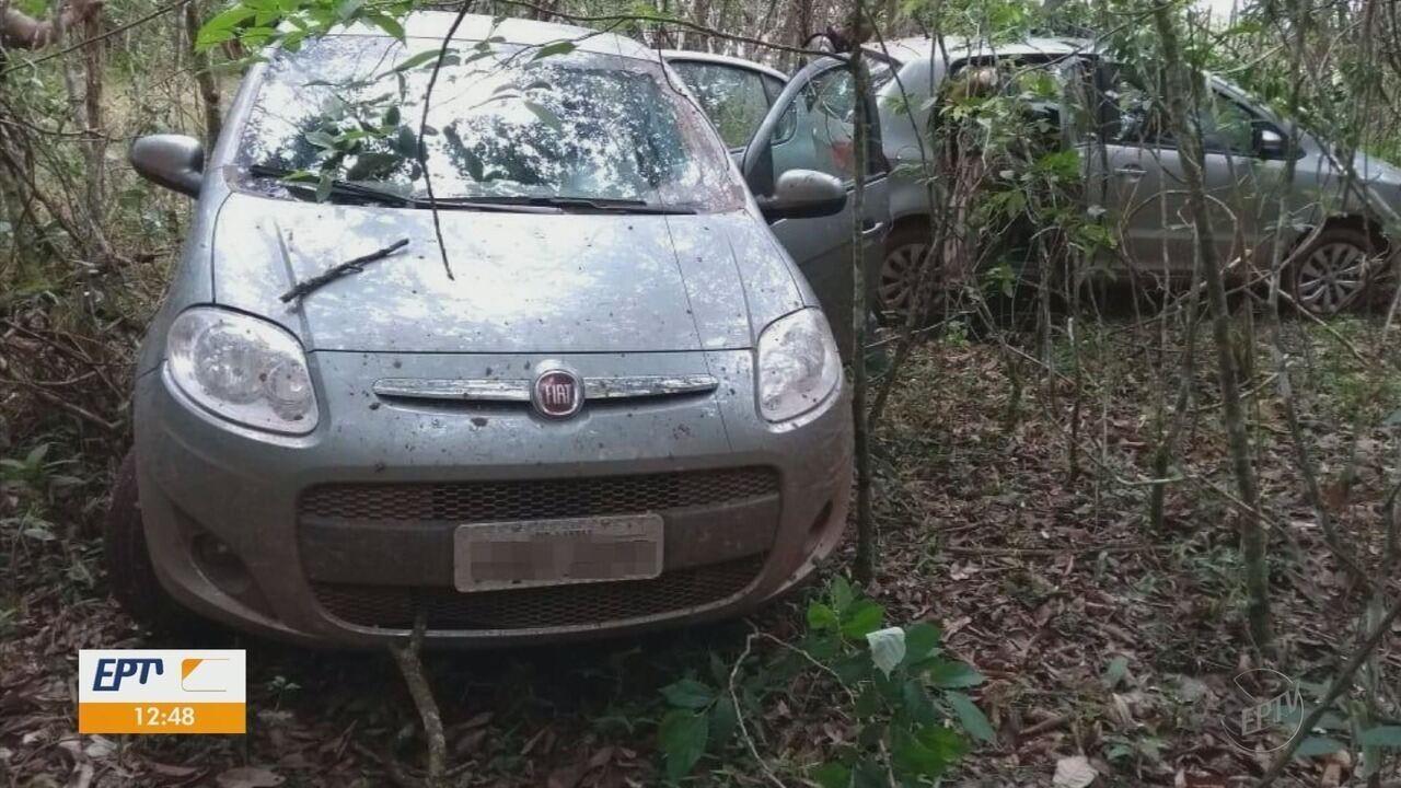 Carros usados na explosão de agência bancária em Nepomuceno (MG) são apreendidos.