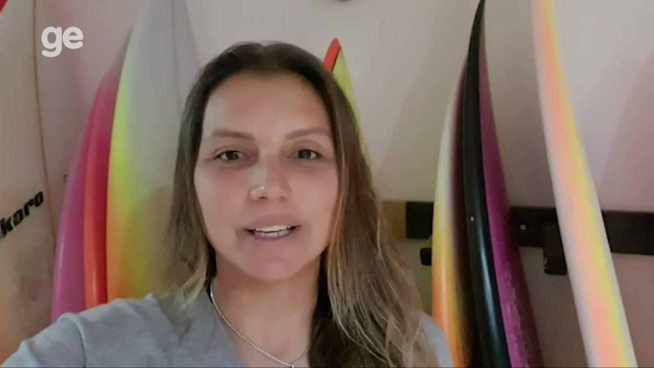 Surfista Maya Gabeira manda recado para a sua fã Catarina Lorenzo