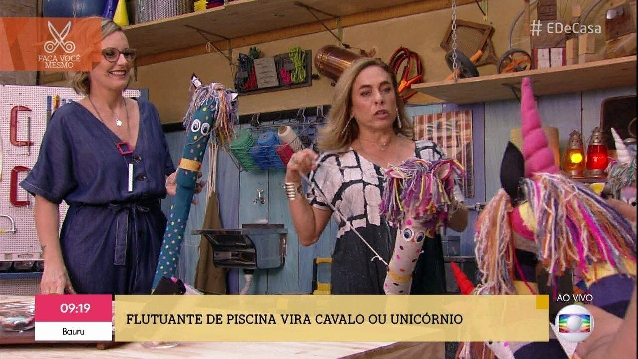 Lu Gastal ensina a fazer cavalinhos e unicórnios coloridos