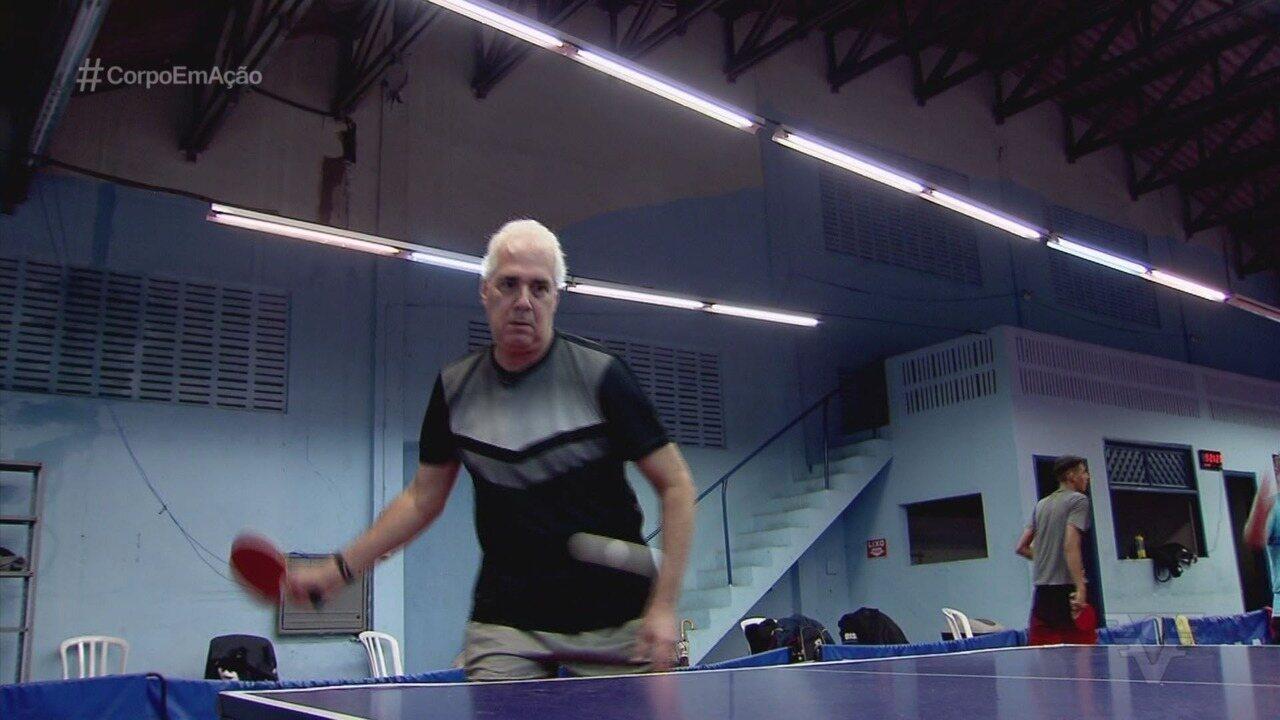 Conhecido na política, Edmur Mesquita acha no tênis de mesa uma forma de viver melhor