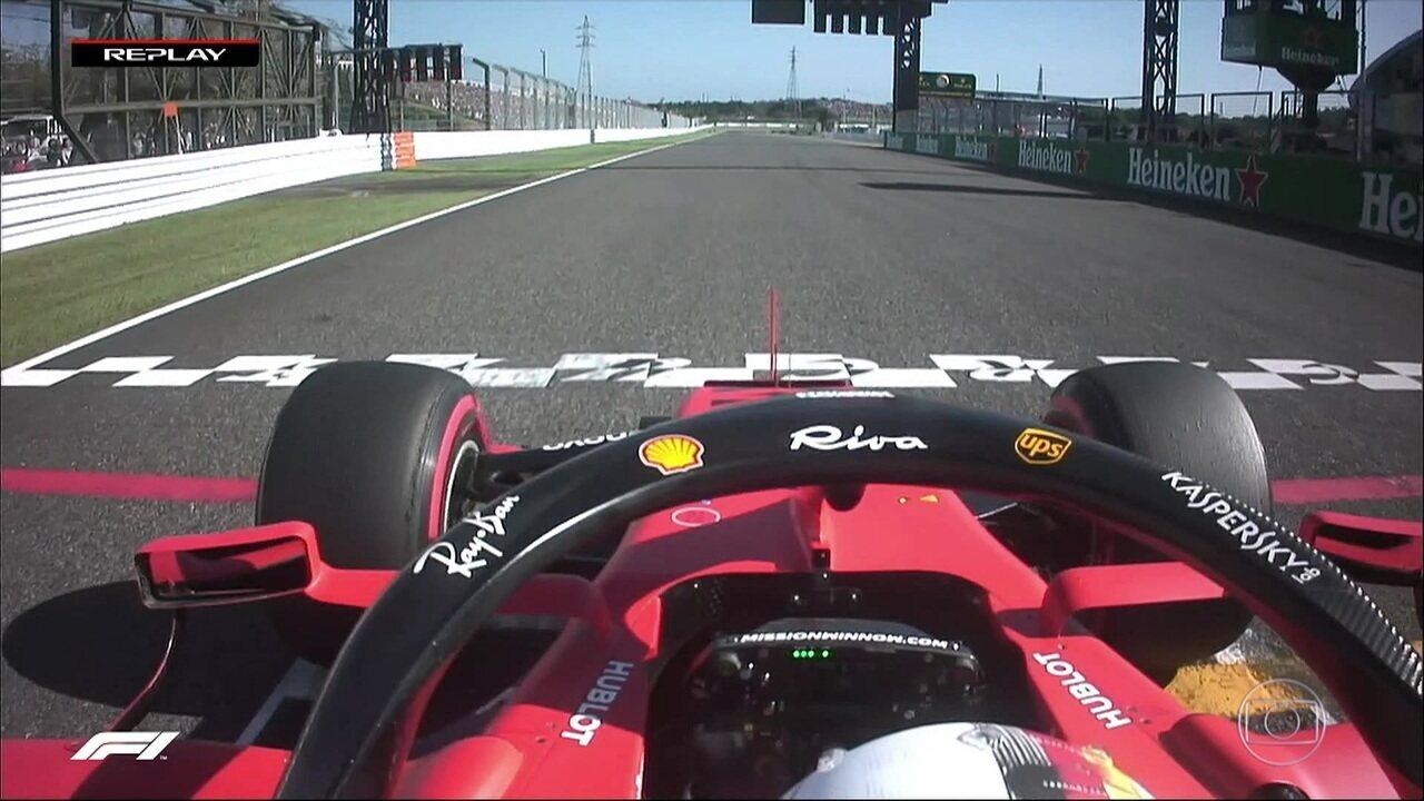 Fiscais avaliam imagem da largada de Vettel e não apontam irregularidade