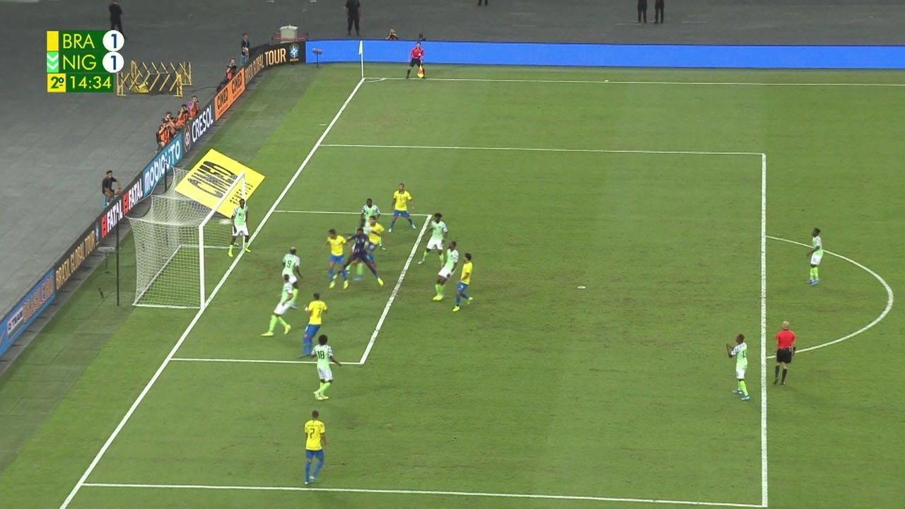 Os melhores momentos de Brasil 1 x 1 Nigéria em amistoso