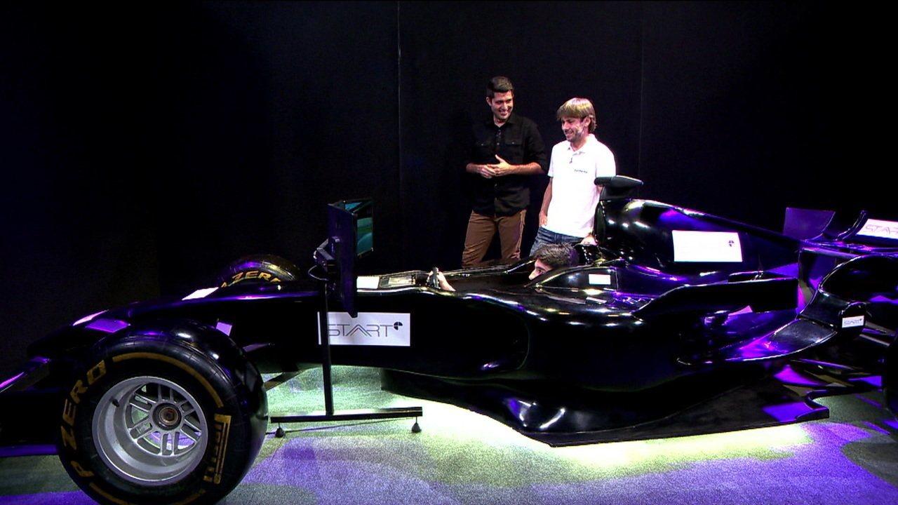 Piloto profissional enfrenta atleta de jogo virtual em desafio de automobilismo no Start