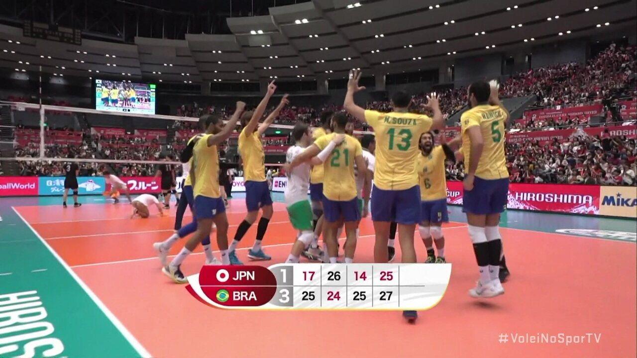 Melhores momentos: Japão 1 x 3 Brasil pela final da Copa do Mundo de vôlei masculino