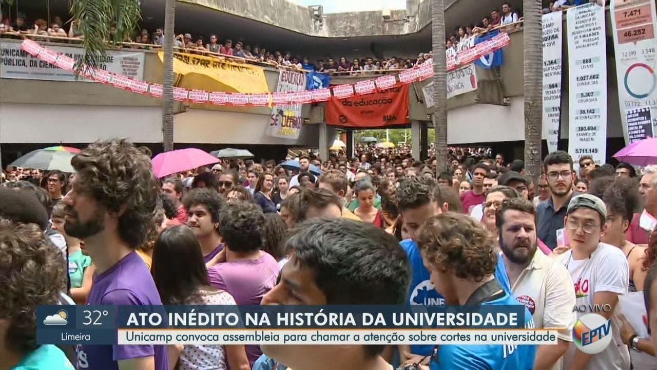 Unicamp convoca assembleia para chamar a atenção sobre cortes na universidade