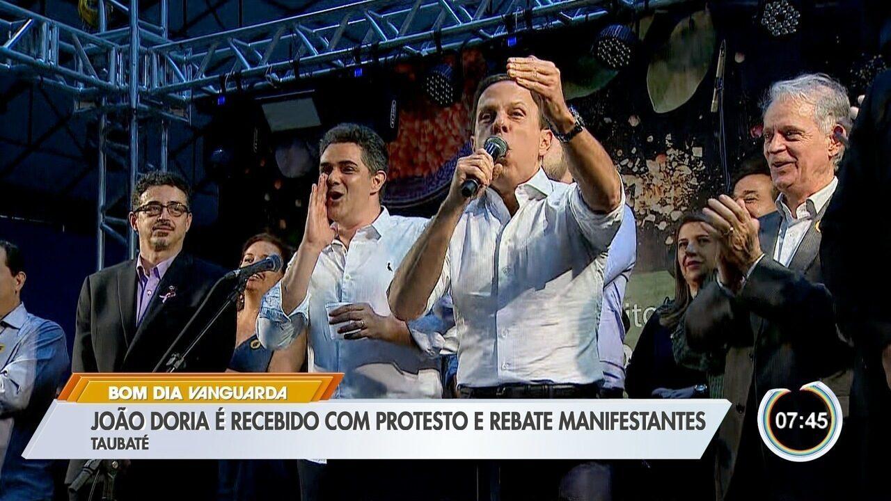 Chamado de 'mentiroso', Doria diz que manifestante é 'vagabundo'; veja vídeo
