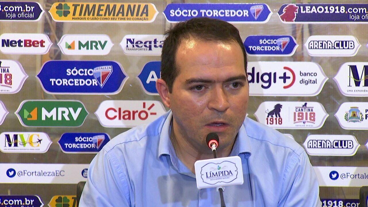 Presidente do Fortaleza reclama da arbitragem após derrota para o Flamengo pelo Brasileirão