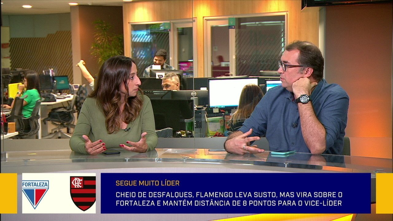 Comentaristas falam sobre a vitória do Flamengo contra o Fortaleza