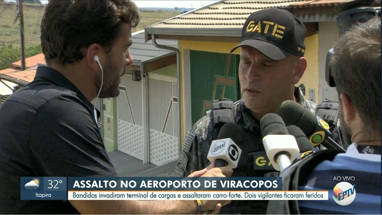 Dois suspeitos foram mortos após assalto ao Aeroporto Internacional de Viracopos
