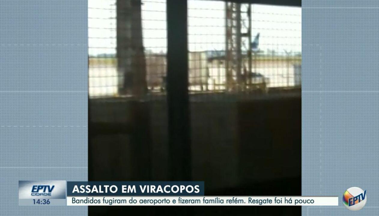 Vídeo mostra ação de criminosos dentro do terminal de cargas