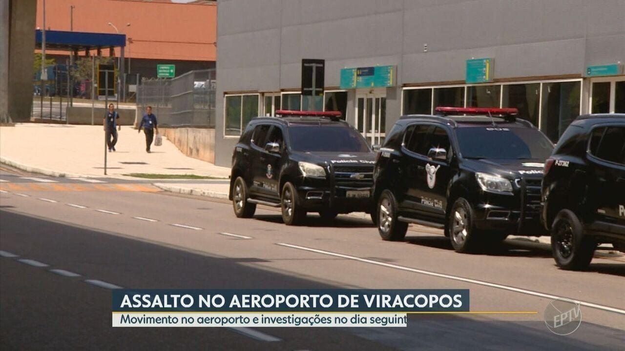Após assalto, movimento no Aeroporto de Viracopos é tranquilo