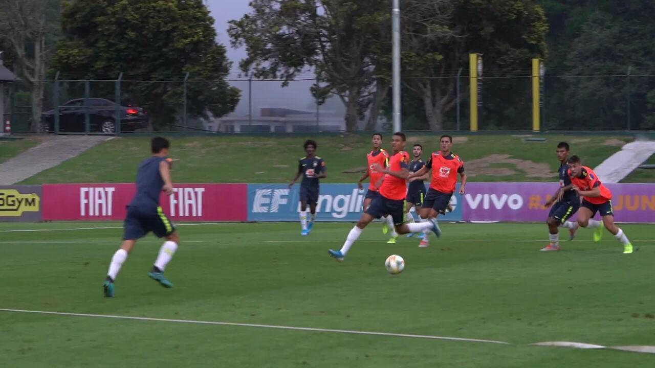 Seleção brasileira sub-17 encerra preparação para amistoso contra Estados Unidos