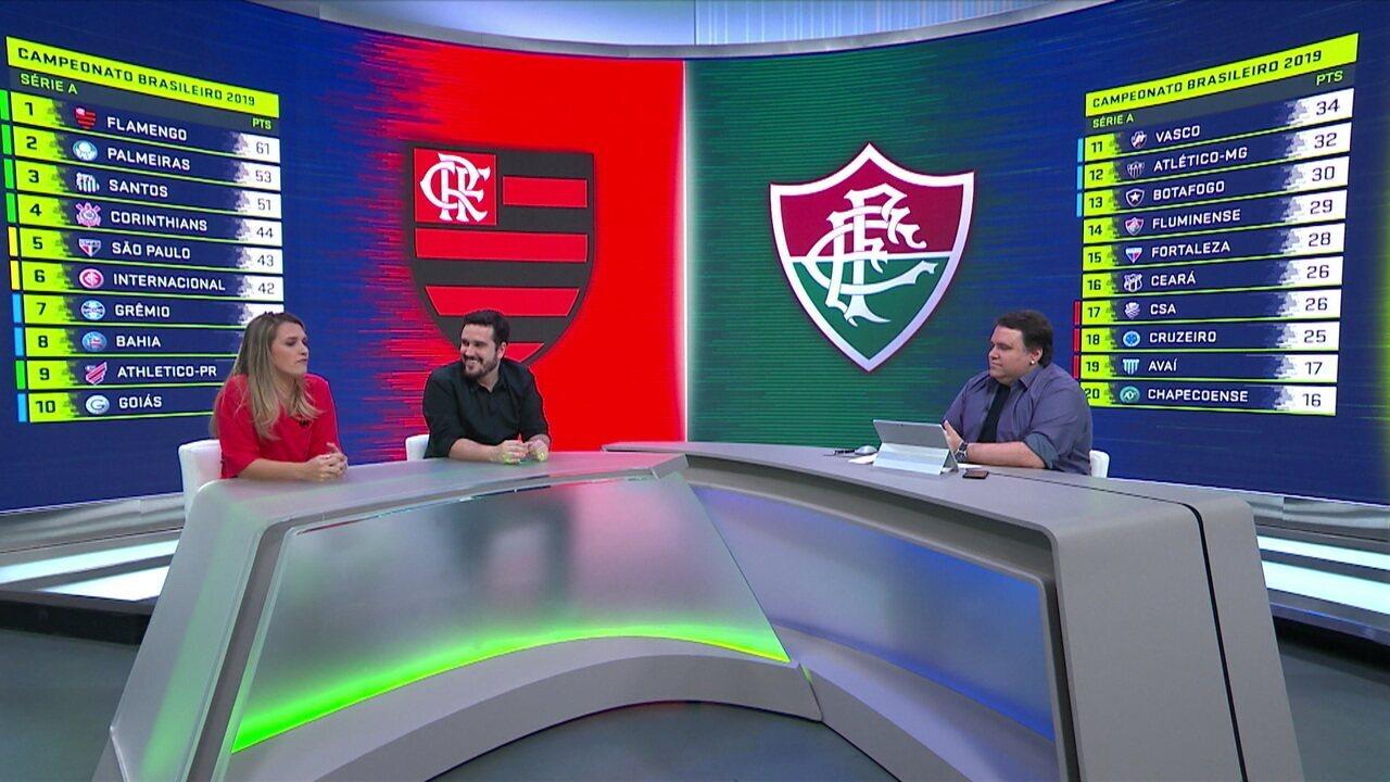 Comentaristas analisam como Flamengo e Fluminense devem encarar clássico
