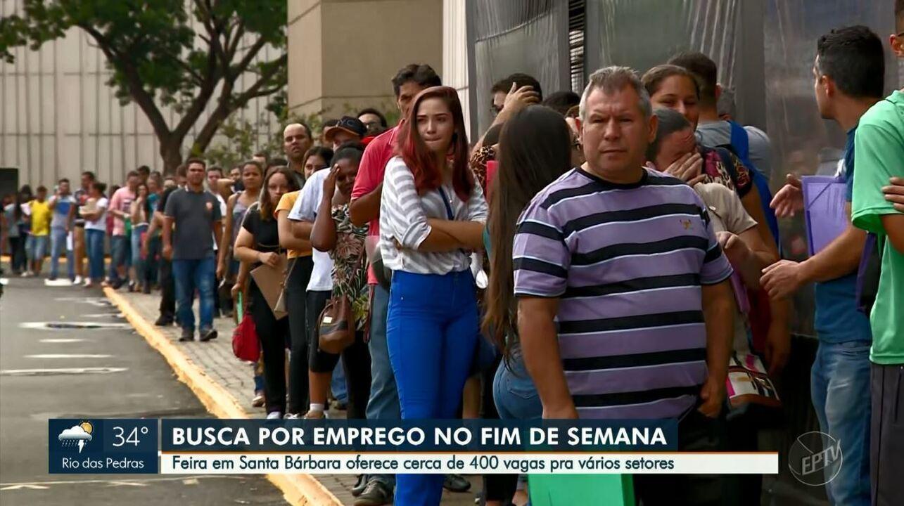 Santa Bárbara D'Oeste oferece 500 vagas de emprego e oficinas gratuitas em evento