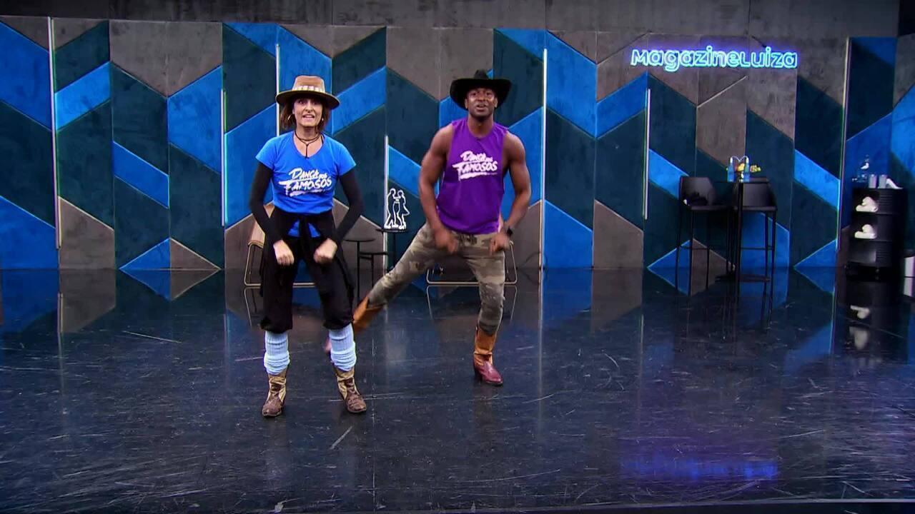 Veja o ensaio da Fernanda Abreu e Igor Maximiliano no baladão sertanejo do 'Dança'