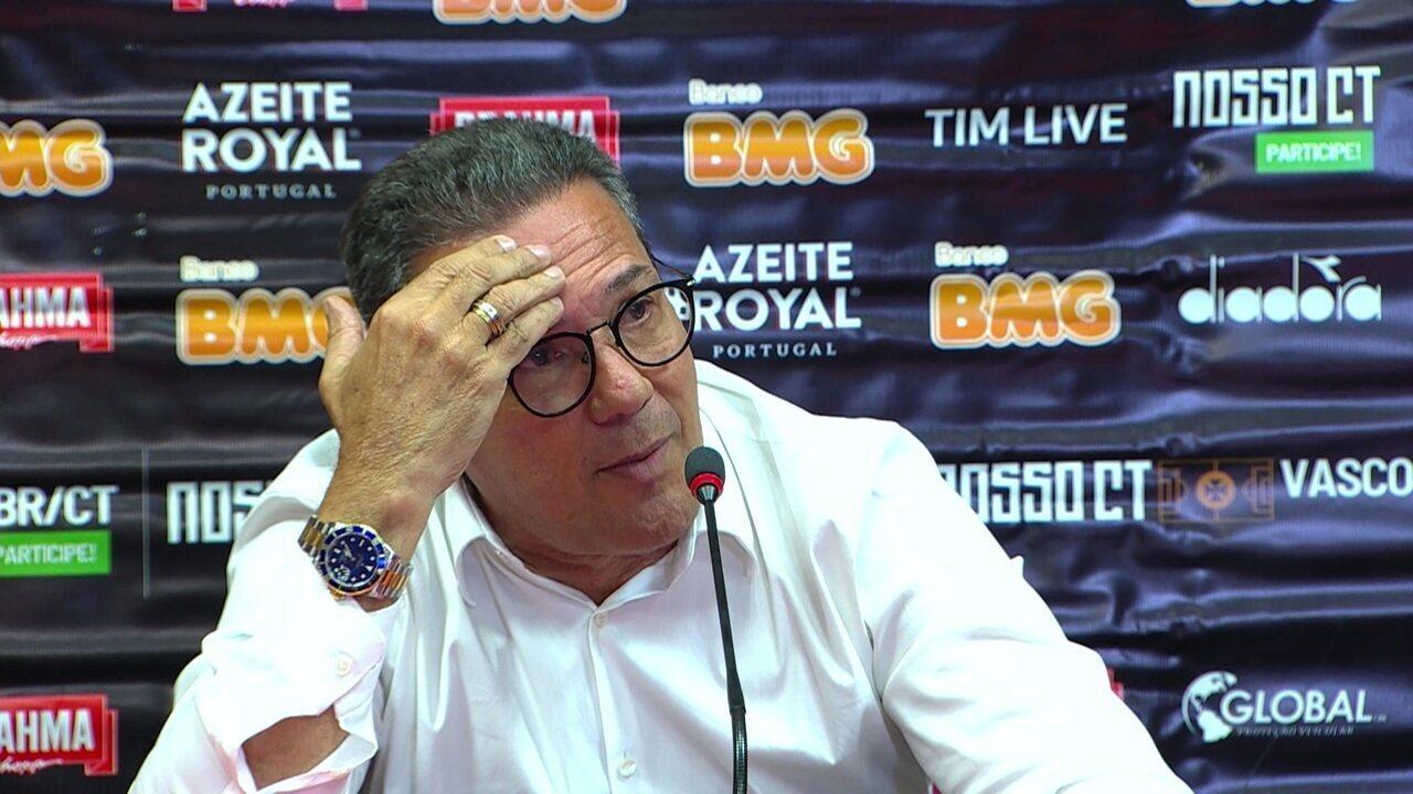 Veja a entrevista coletiva de Vanderlei Luxemburgo após vitória do Vasco contra o Inter