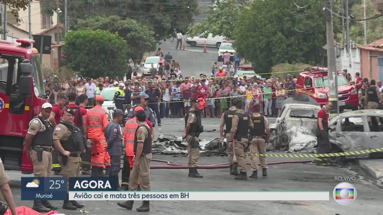 Aeronave cai no Caiçara e mata três em Belo Horizonte