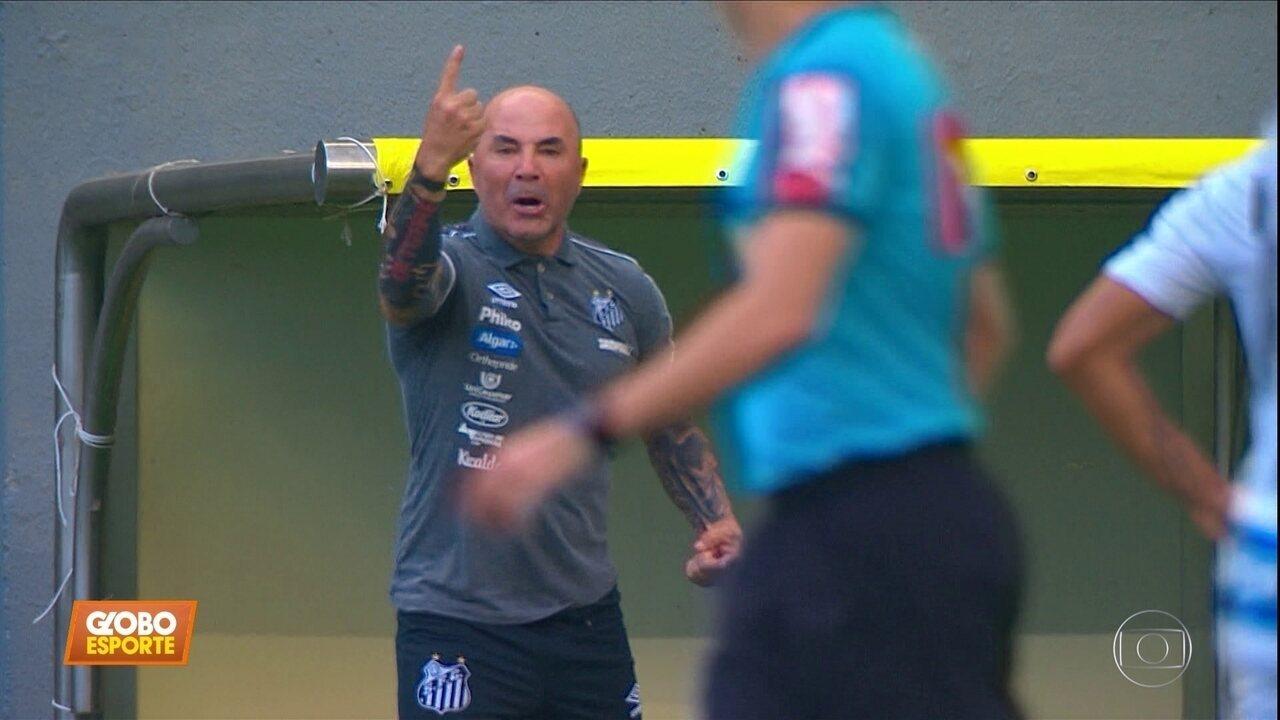 Atlético-MG 2 x 0 Santos: Peixe sai atrás e não consegue reagir no Independência