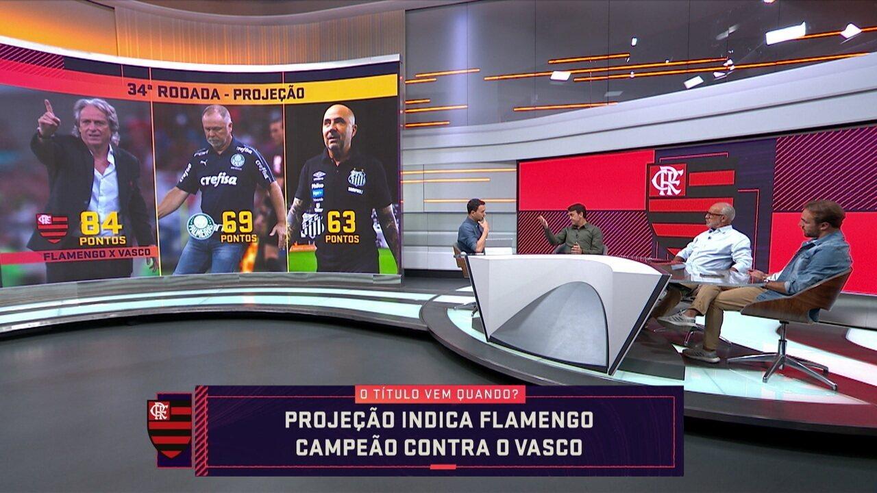 Seleção SporTV faz projeção e Flamengo pode ser campeão brasileiro com vitória sobre o Vasco