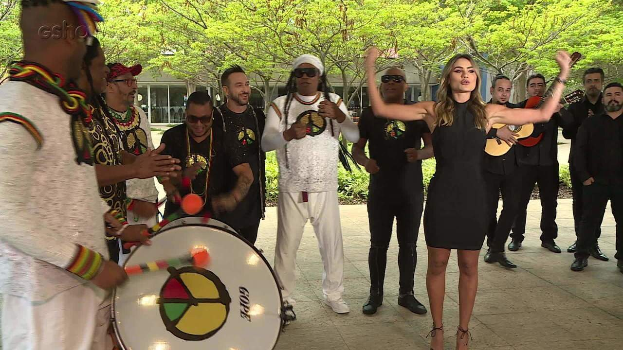 Bastidores do 'Domingão' une Olodum com a Dança Flamenca