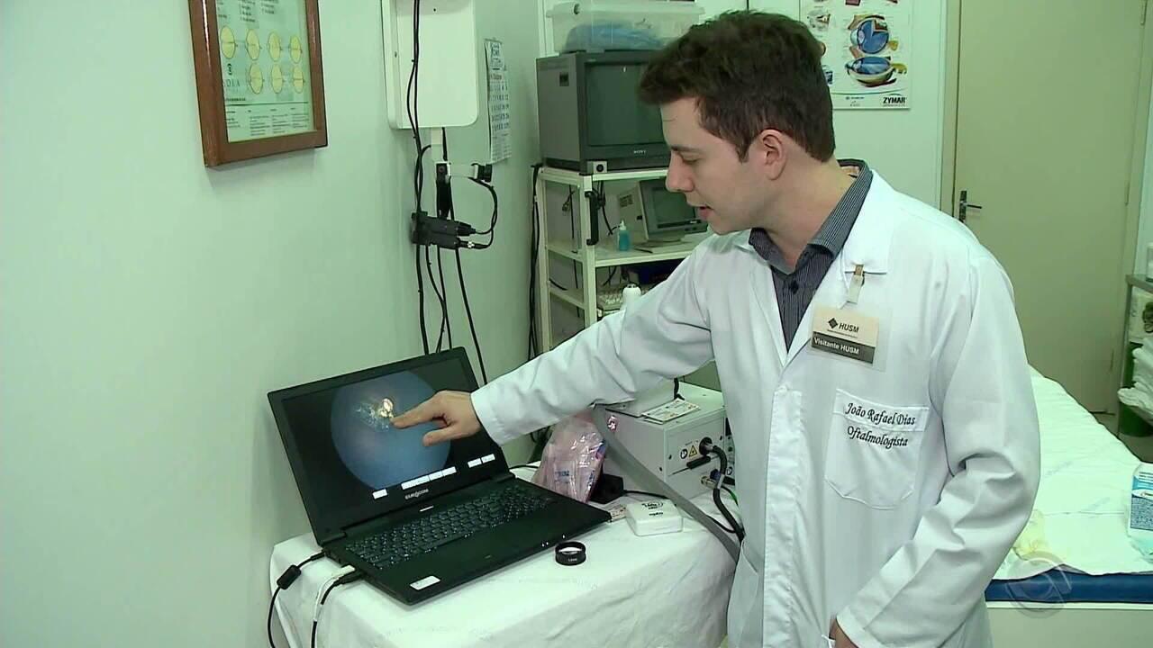 Crianças que contraíram toxoplasmose realizam exame oftalmológico inédito no RS