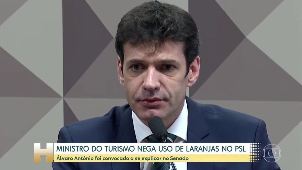 Ministro do Turismo nega uso de candidaturas de laranjas no PSL de MG