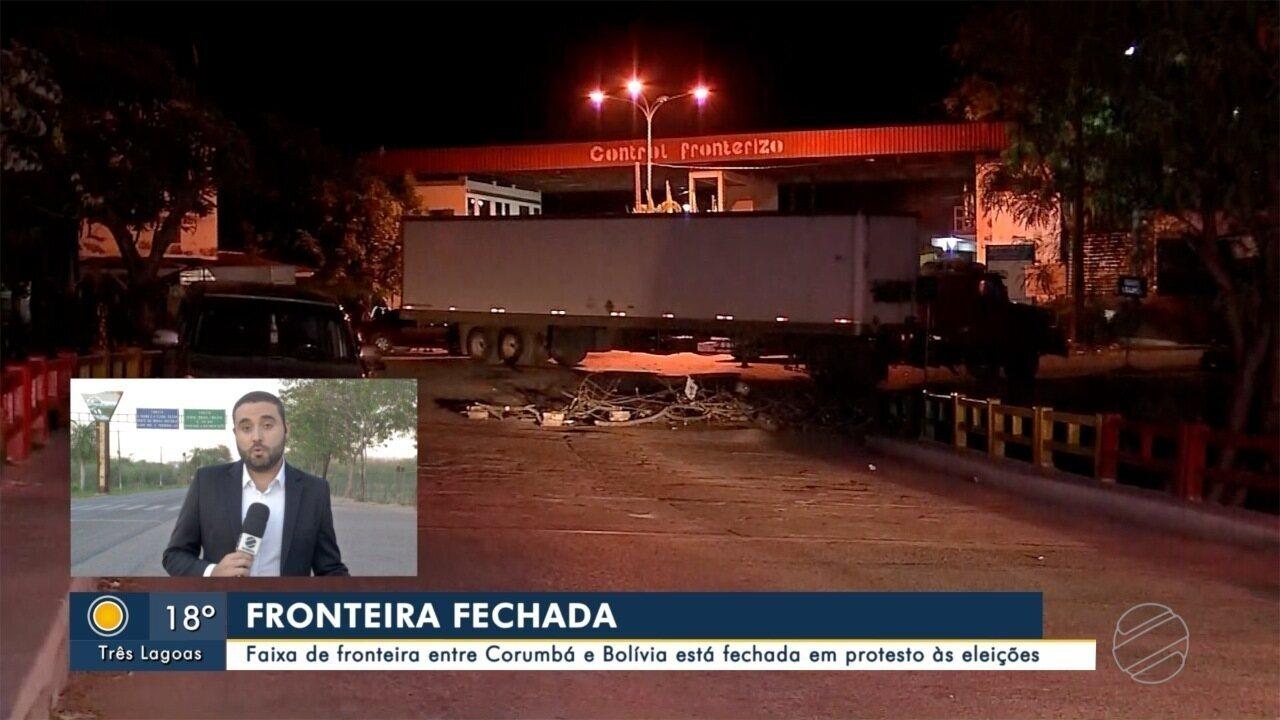 Fronteira Brasil - Bolívia amanhece fechada em protesto de bolivianos