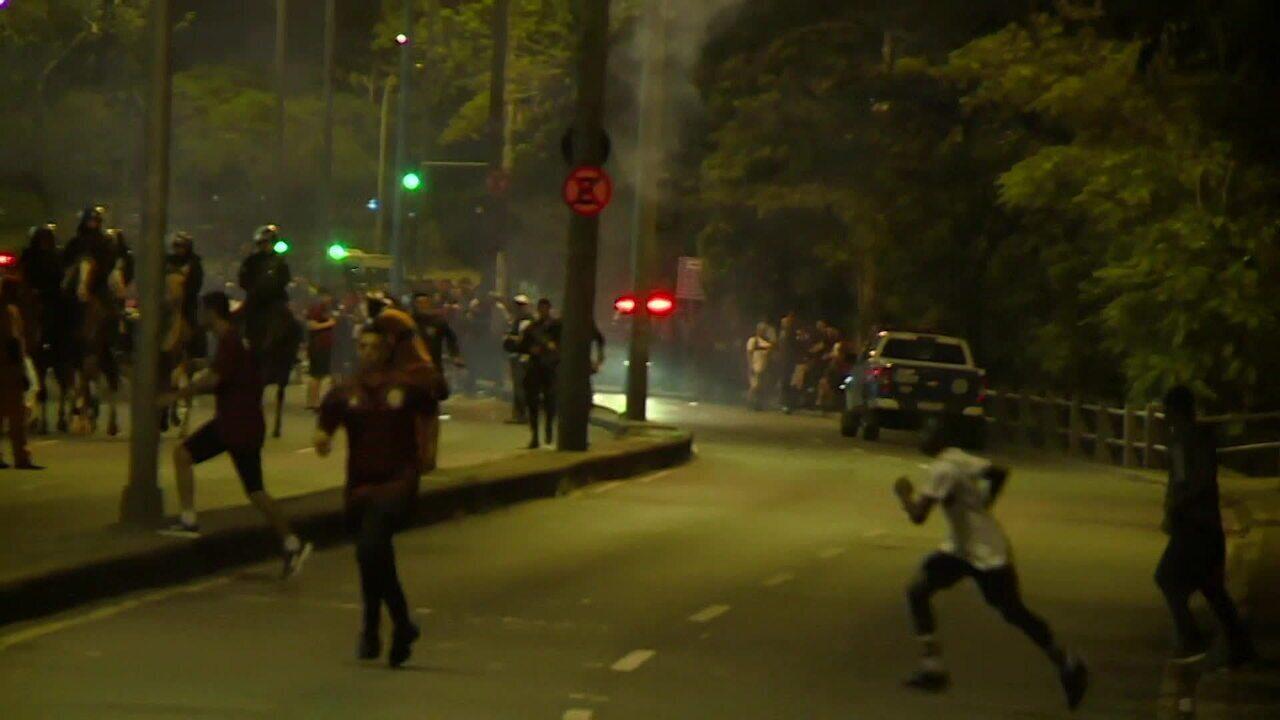 Maracanã tem momentos de tumulto antes da semifinal entre Flamengo e Grêmio