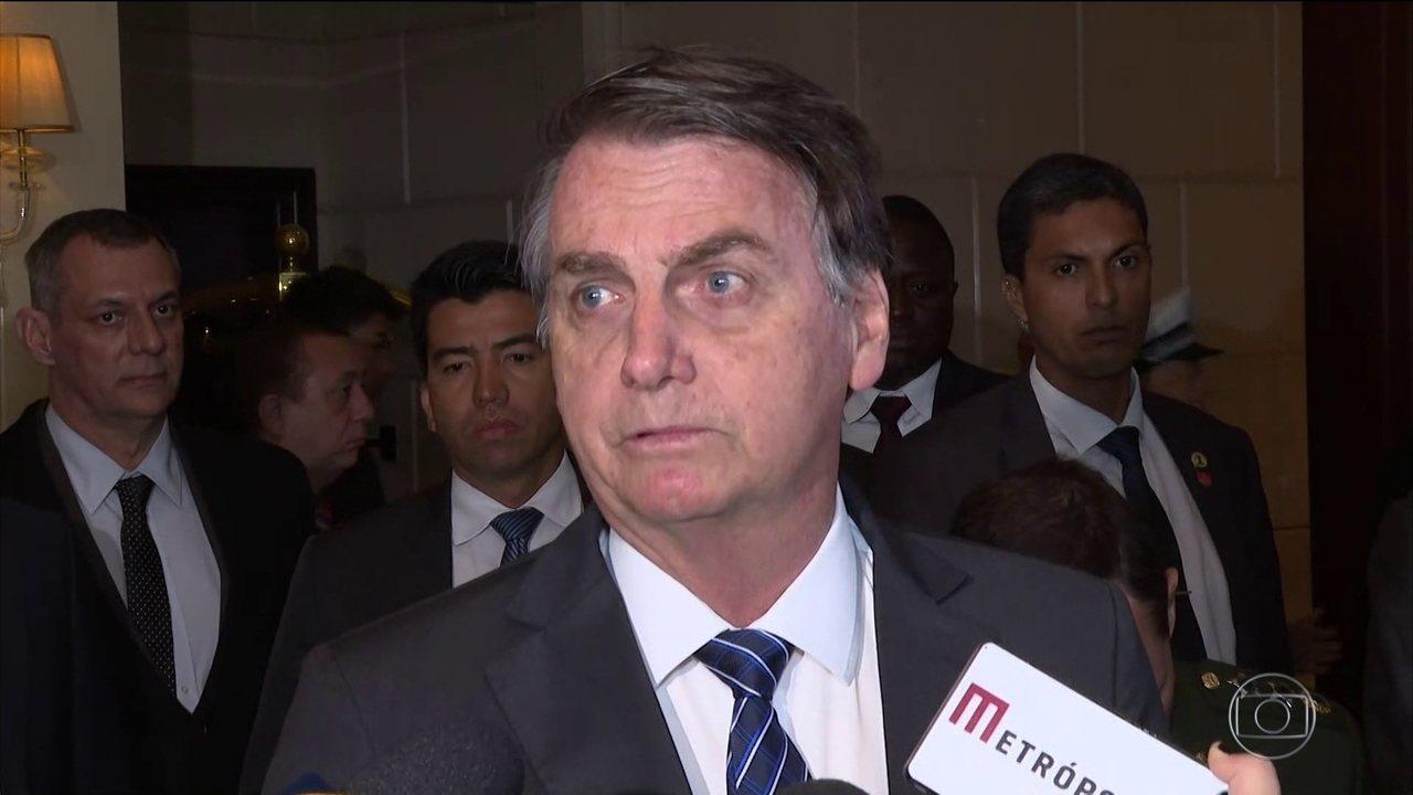 Jair Bolsonaro está na China na 2ª etapa da viagem à Ásia e ao Oriente Médio