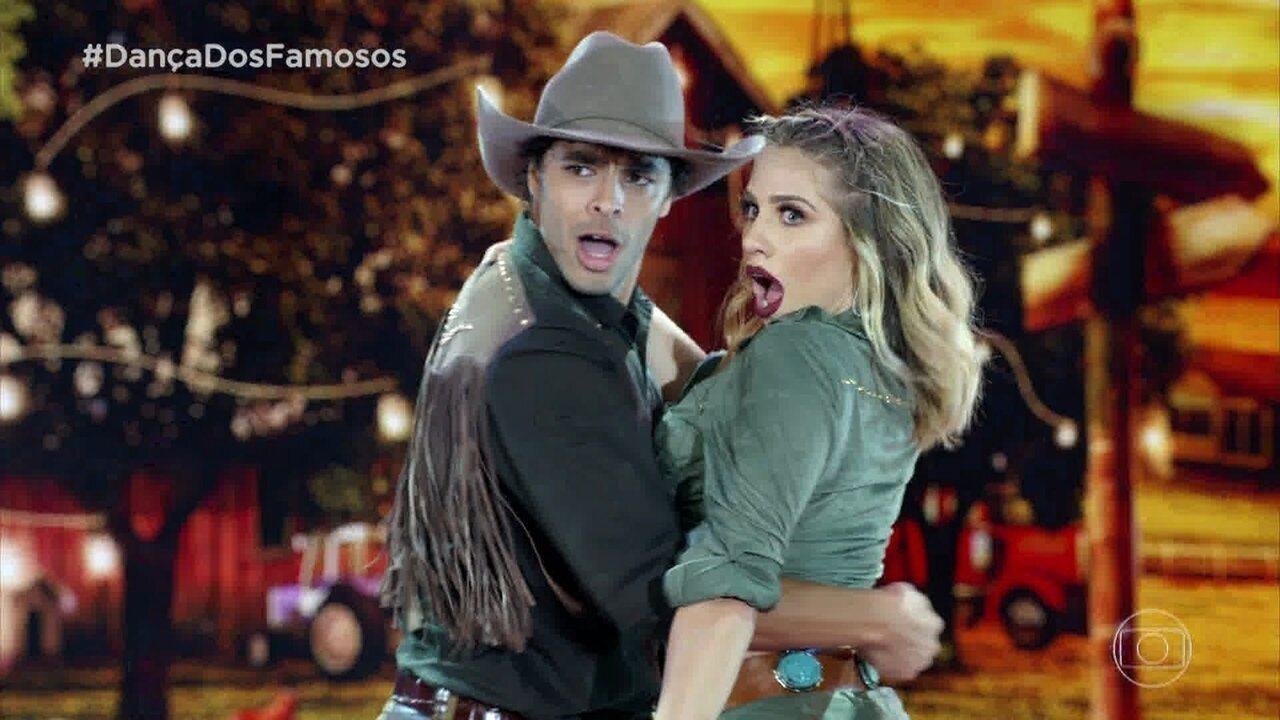 Matheus Abreu e Larissa Lannes quebram tudo em apresentação