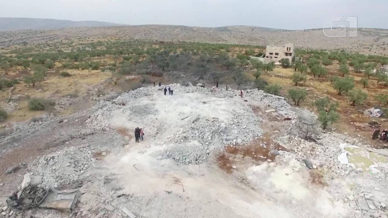 Imagem de drone mostra como ficou esconderijo de Abu Bakr al-Baghdadi na Síria