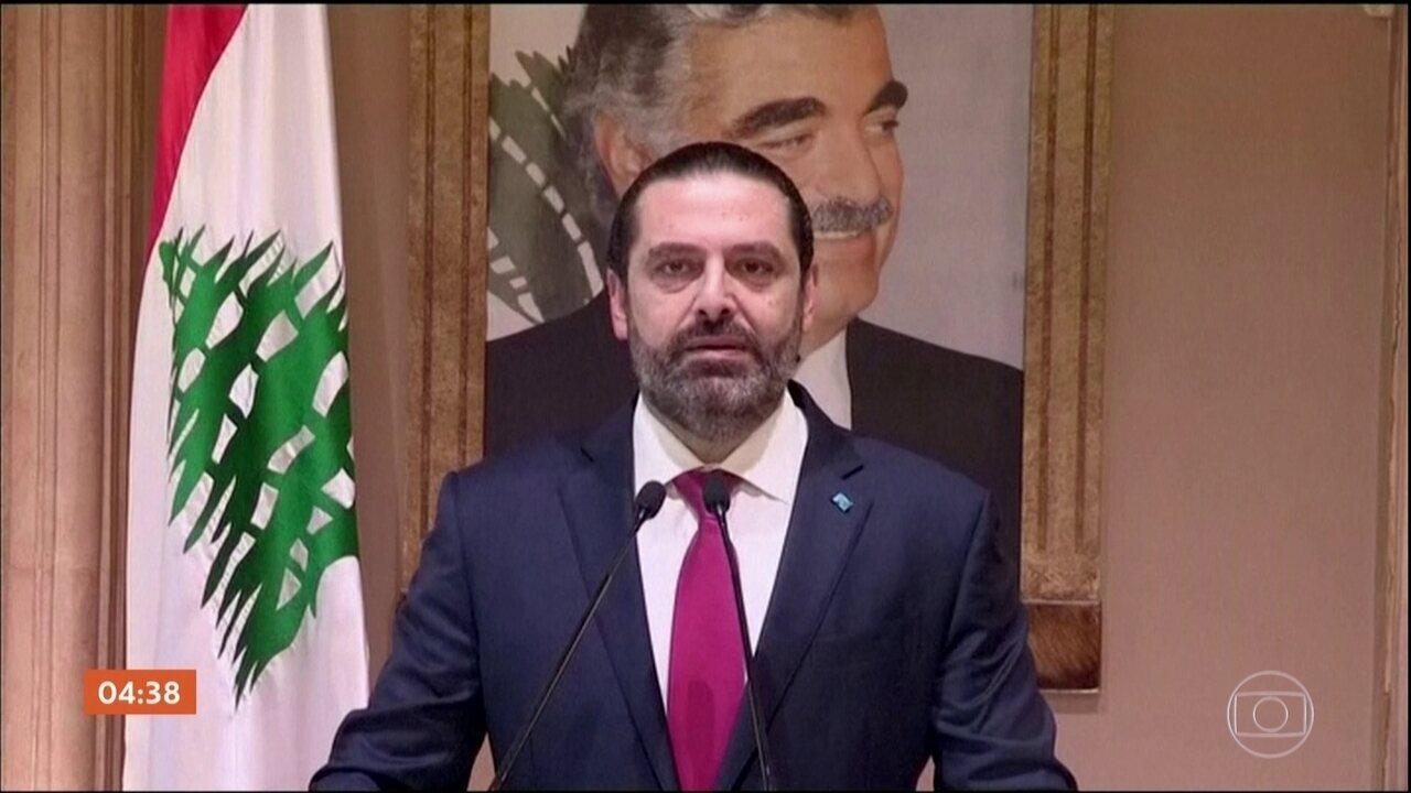 Primeiro-ministro do Líbano deixa o cargo