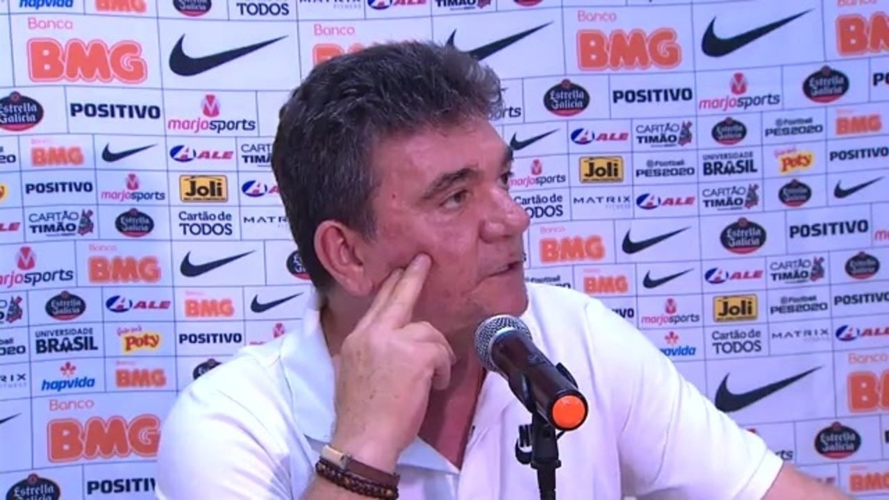 Veja como foi a entrevista do presidente do Corinthians, Andrés Sanchez, após derrota para o CSA