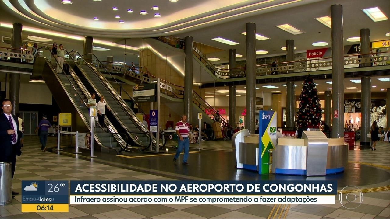 Resultado de imagem para Infraero assina acordo com o Ministério Público Federal por acessibilidade em Congonhas