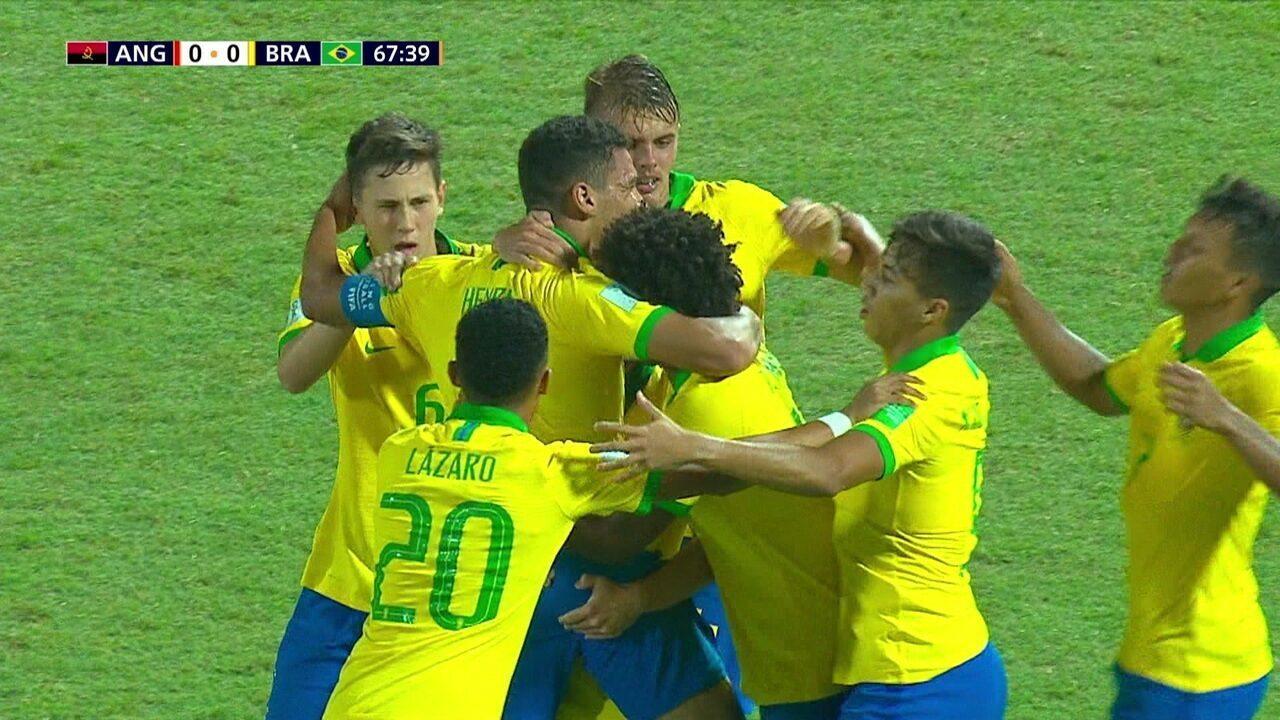 Os gols de Angola 0 x 2 Brasil pelo Mundial sub-17