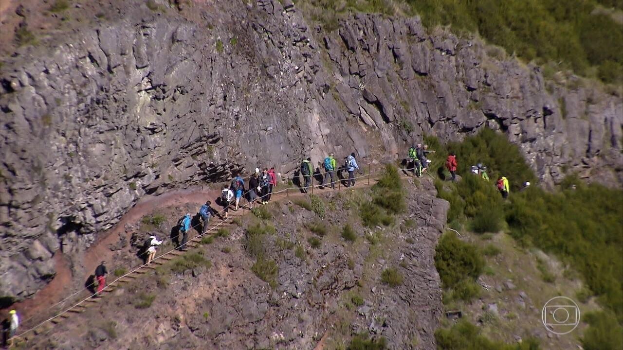 Boa parte das paisagens da Ilha da Madeira é explorada através de trilhas