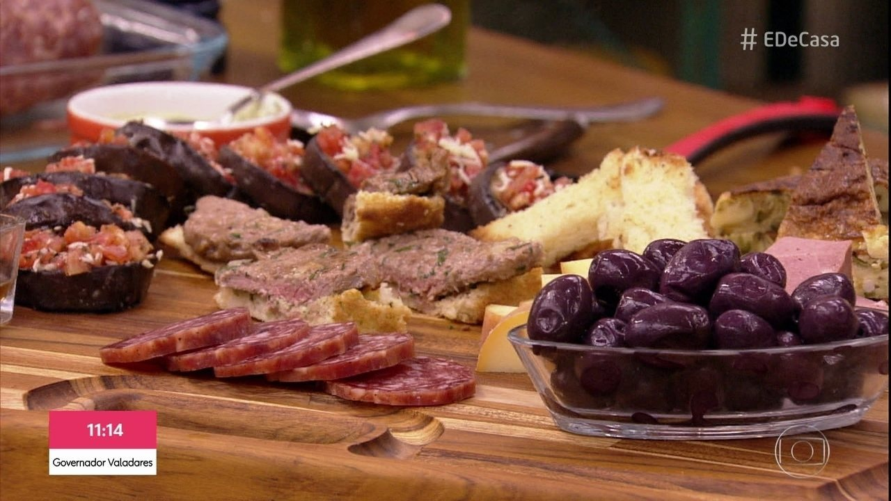 Chef Ravioli ensina receitas de antepastos
