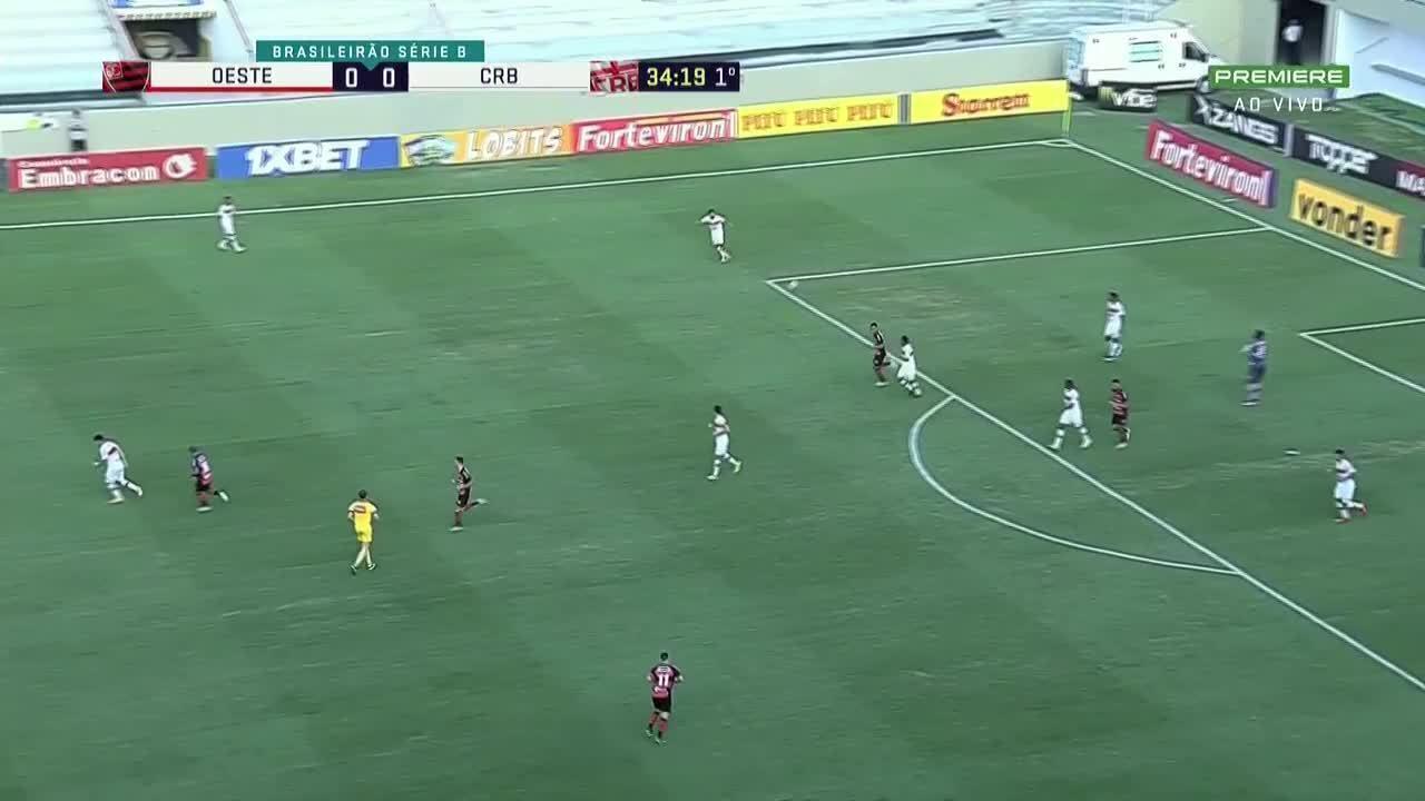 Melhores momentos de Oeste 3 x 3 CRB pela 32ª rodada da Série B do Brasileiro