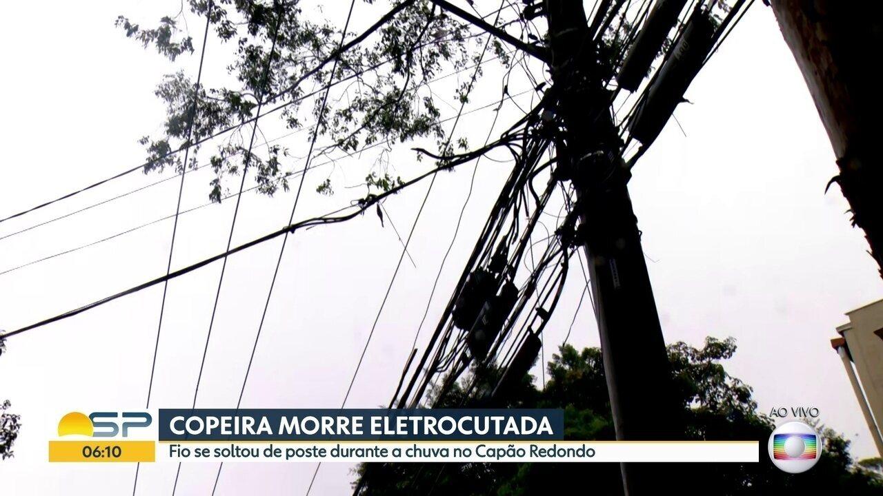 Mulher morre eletrocutada durante chuva nesta terça-feira (5)