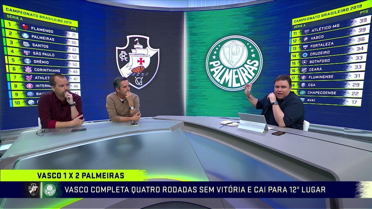 Bancada analisa vitória do Palmeiras diante do Vasco