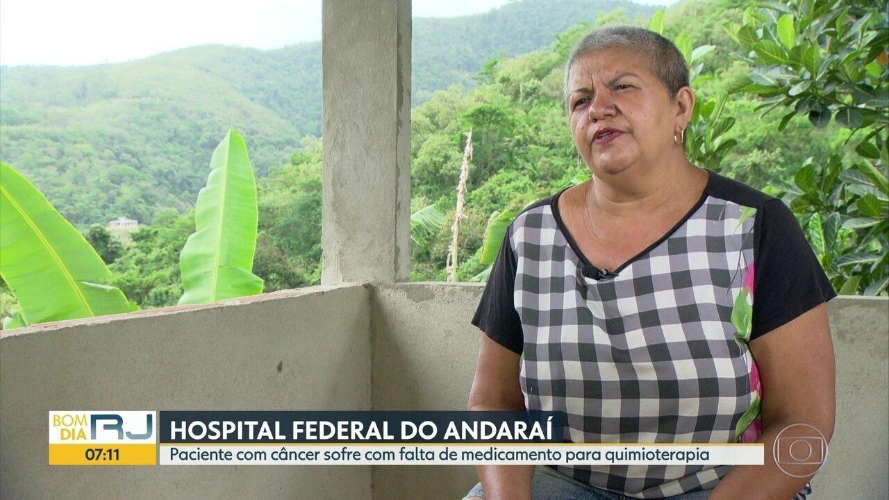 Hospital do Andaraí tem problemas no fornecimento de medicações para quimioterapia