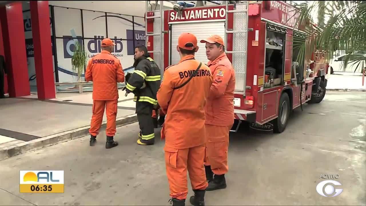 Princípio de incêndio atinge prédio na Jatiúca